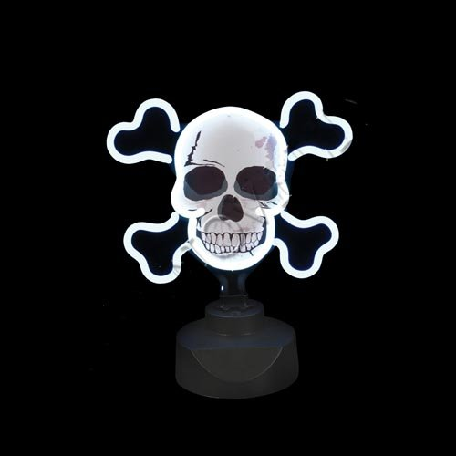 "Rhode Island Novelty 10 x 10"" Neon Skull Sign"