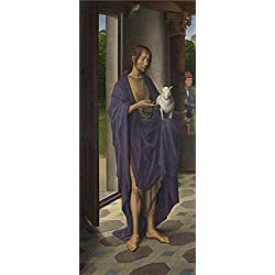 'Hans Memling Saint John The Baptist (1) ' Oil Painting, 12 X 29 Inch / 30 X 72 Cm ,printed On Perfect Effect Canvas ,this Amazing Art Decorative Canvas Prints Is Perfectly Suitalbe For Bathroom Decor And Home Gallery Art And Gifts