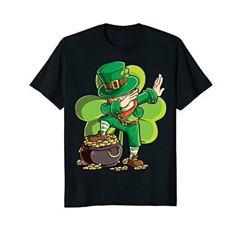 Dabbing Leprechaun Shirt St Patricks Day Kids Boys Women Men