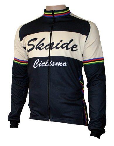Skaide Radtrikot Ciclismo Langarm Retro, Größe S bis 6XL