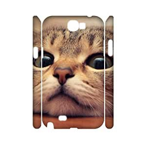 Lovely cat CUSTOM 3D Phone Case for Samsung Galaxy Note 2 N7100 LMc-32637 at LaiMc