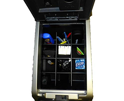 - Made in USA Salex Organizers SLX105 Vehicle OCD Without USB, RCA, 12V in Front of Console 2009-2014 Floor Shift w//Bucket Seat Only Center Console Organizer for Ford F150