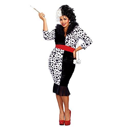 Dreamgirl Women's Dalmatian Diva Plus Size, Black/White, 1X -