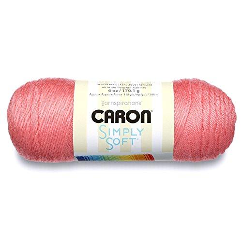 - Caron  Simply Soft Collection Yarn - (4) Medium Worsted Gauge 100% Acrylic - 6 oz -  Strawberry (H97COL0015)