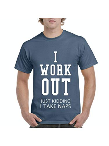 Mom`s Favorite Gym Cardio Outfit I Work Out Men's Short Sleeve T-Shirt (MIB) Indigo -