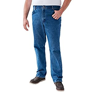 LEE Men's Big & Tall Straight Leg Regular Fit Jeans, Pepper Stone 5232