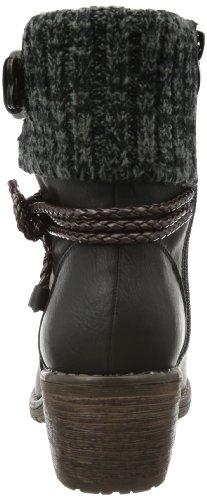Rieker 99878, Women's Ankle Boots Black (Schwarz/Testadimoro/Black-grey/00)
