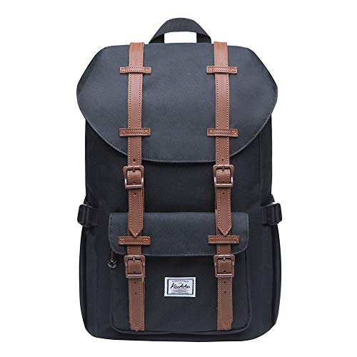KAUKKO Laptop Outdoor Backpack, Travel Hiking& Camping Rucksack Pack, Casual Large College School Daypack, Shoulder Book Bags Back Fits 13