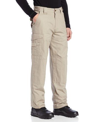 TRU-SPEC Men's Cotton 24-7 Pant, Khaki, 46-Inch Unhemmed by Tru-Spec