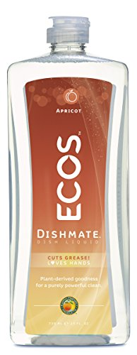 Earth Friendly Products Dishmate, Dishwashing Liquid, Natural Apricot, 25 Ounces (Pine Liquid Dish)