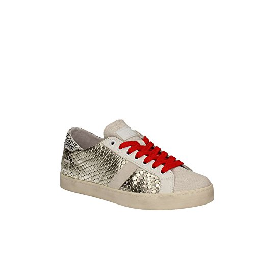 Sneakers Femme Dates laminé platine Collection SS 2017, or, 40