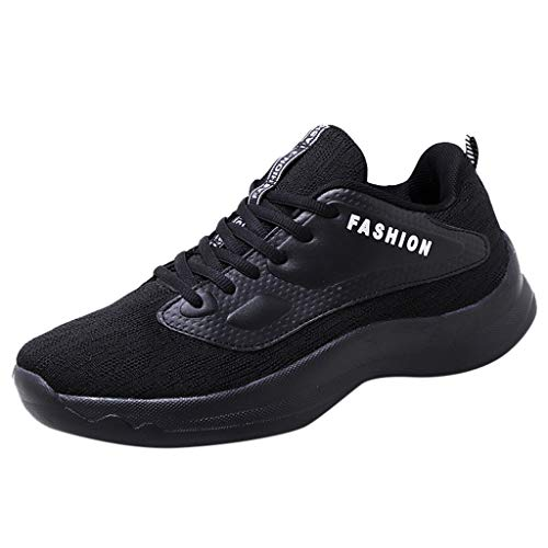 Yucode Mens Running Shoes Fashion Sneakers for Tennis Sports Casual Indoor Fitness Outdoor Road Walking Athletic Black