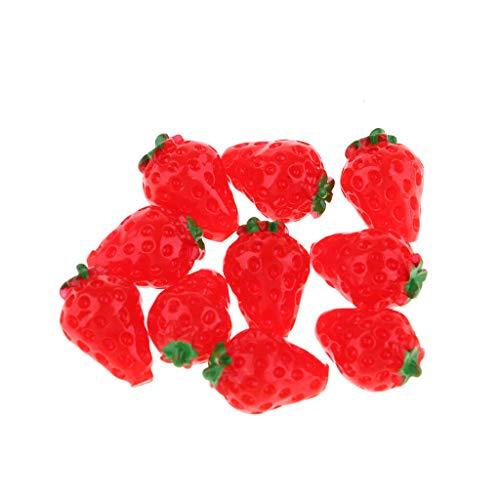 NATFUR Miniature Food Collectibles 10 Pieces Fruit Model Pretend Play Kitchen Toys