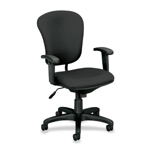 (Basyx VL620VA19 VL600 Series Mid-Back Swivel/Tilt Task Chair, Charcoal)