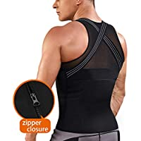 Mens Back Braces Body Shaper Tank Top Compression Shirt Tummy Trimmer Abs Slim Underwear Vest Girdle Tights