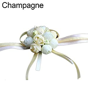 hwangli Wedding Bridesmaid Sisters Hand Wrist Corsage Flower Bracelet 105
