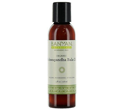 Banyan Botanicals Ashwagandha Bala Oil 4 oz - USDA Organic - Building & Nourishing - Vitalizing Herbal Massage Oil for Muscles & -