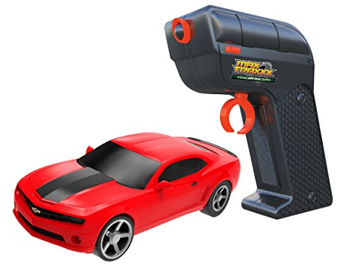 Max Traxxx R/C Tracer Racers High Speed Remote Control 1:64 Scale Officially Licensed Chevy Camaro - Red, Channel D