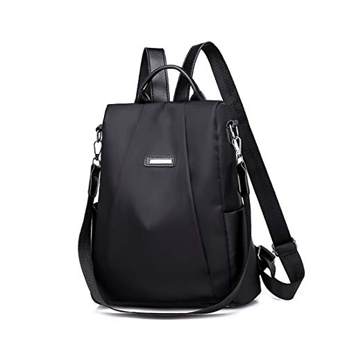 vermers Womens Shoulder Backpack Casual Travel Backpack Bag Anti-Theft Oxford Cloth Backpack(Black) from vermers