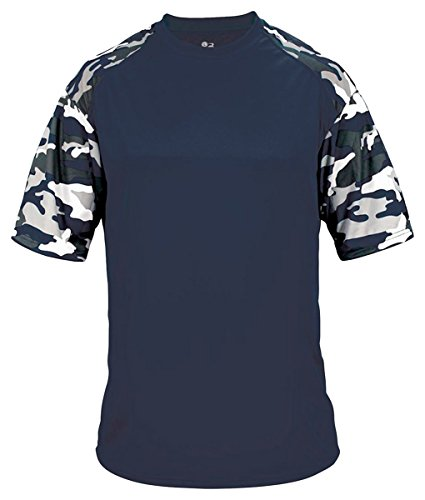 Badger Mens Camo Sport Tee (4141) -NAVY/NAVY -L ()