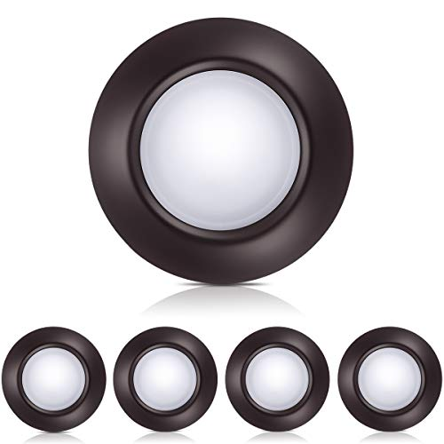 4-Pack Bronze Dimmable LED Disk Light, SOLLA 7.5