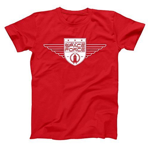 Mens Xt Wings (United States Space Force Wings Mens Big and Tall T-Shirt XT Red)
