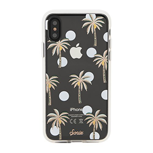 iPhone Xs, iPhone X, Sonix Bora Bora (Palm Tree) Cell Phone Case [Military Drop Test Certified] Clear Case for Apple iPhone X, iPhone Xs