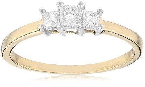 3 Stone Princess Ring Setting - 7