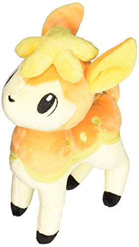 "Pokemon Center Black And White Pokedoll Plush Doll - 8"" - Shikijika / Deerling - Autumn Orange"
