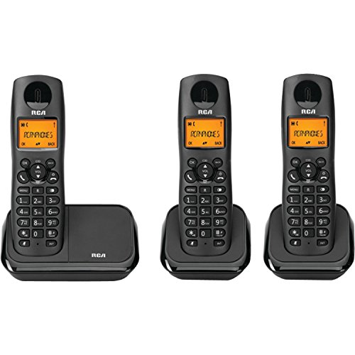 RCA 2161-3BKGA Element Series DECT 6.0 Cordless Phone with C