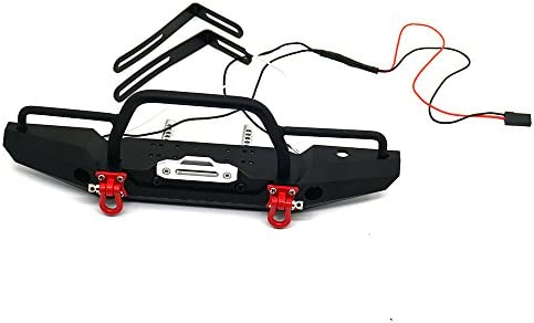 Alomejor 1//10 Front Bumper with Shackle Winch Wireless Remote Control RC Crawler Accessory