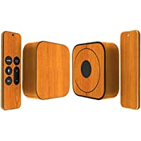 Skinomi TechSkin - Apple TV 2015 (4th Gen) Light Wood Full Body Skin / Front & Back Wrap Clear Film / Ultra HD & Anti-Bubble Invisible Shield (4th Generation)