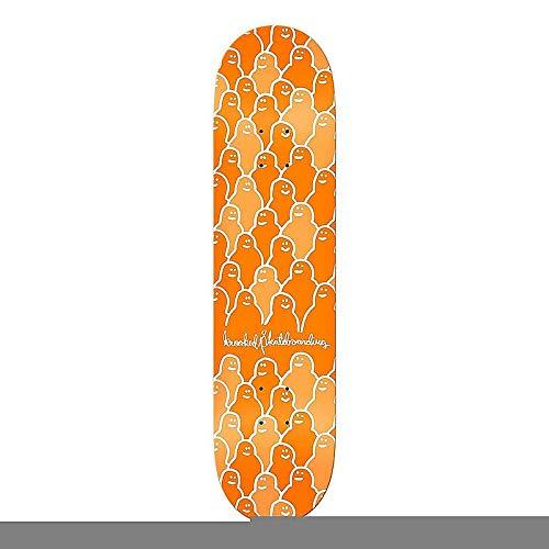 大きい日光城Krooked Orange Krouded II - 8.06インチ スケートボードデッキ