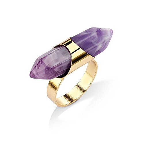 networking-ring-by-7-charming-sisters-ring-w-purple-pendant-gold-amethyst-womens-statement-ring