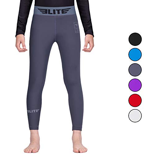 Elite Sports Kids MMA BJJ Athletic Spats Leggings