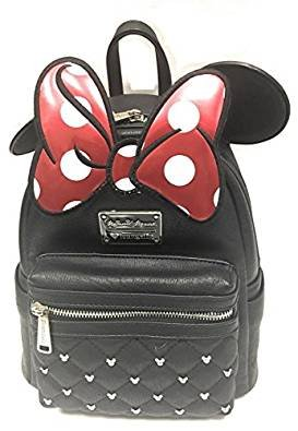 Loungefly Disney Minnie Mouse Bow Mini Faux Leather Backpack WDBK0208 from Loungefly