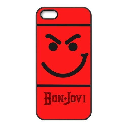 5S Phone Case, Bon Jovi Band Personalized Hard TPU Rubber Silicone Case Cover for iPhone 5 & iPhone 5S