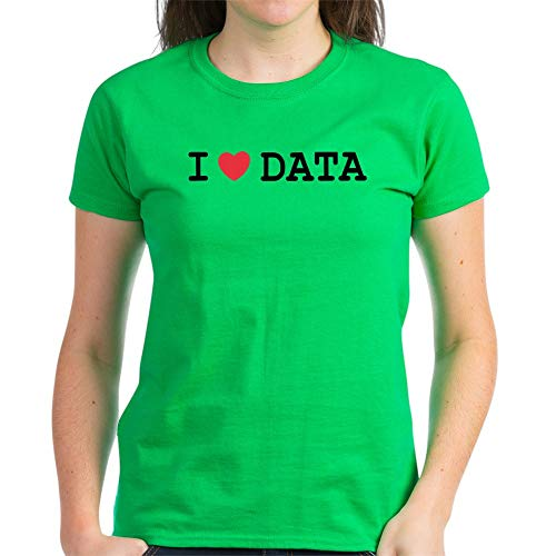 CafePress I Heart Data T Shirt Womens Cotton T-Shirt (Best Database For Reporting)