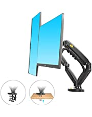 """North Bayou F160 Dual Monitor Full Motion Desk Mount with Gas Spring for Two Computer Monitors 17'' - 27"""" LED LCD Flat Panel TVs from 2kg Upto 6.5kg per arm."""