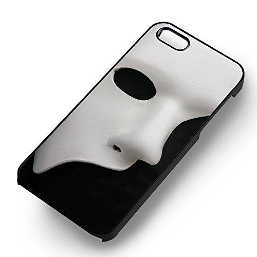 Unique Mask BnW pour Coque Iphone 5 or Coque Iphone 5S or Coque Iphone 5SE Case (Noir Boîtier en plastique dur) Q0R5RM