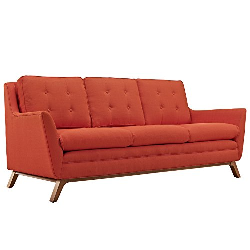 Beguile Fabric Sofa, Atomic Red