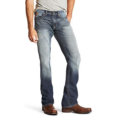 Atlantic Stackable - ARIAT Men's M5 Slim Davis Stackable Straight Leg Jean Atlantic Size 36W X 38L