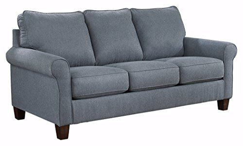 Ashley Furniture Signature Design - Zeth Sleeper Sofa - Queen Size - Easy Lift Mechanism - Contemporary Living - Denim (Sofa Sectional Denim)