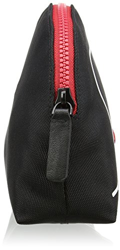Lulu Guinness - Kissing Lips, Monederos Mujer, Black (Blk/chalk), 0.5x17x26 cm (W x H L)