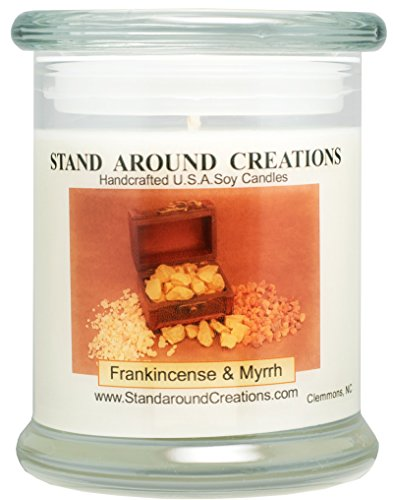 Premium 100% Soy Candle - 12 oz. Status Jar - Frankincense And Myrrh: A irresistible blend of bergamot, patchouli, sandalwood, myrrh essential oils. Naturally Strong - Usps Shipping Status