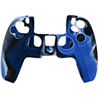 Silicone Cover For PS5 Controller Case Skin - Blue/Black Swirls