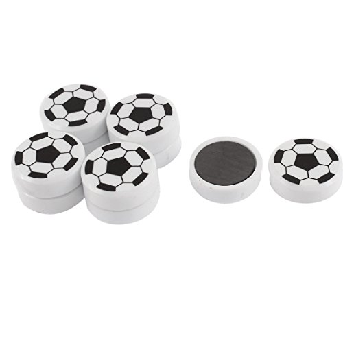 uxcell Soccer Ball Pattern Round Refrigerator Sticker Fridge Magnet 10pcs ()