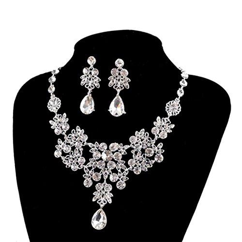 Crystal Bridal Pendant (Creazy® Women's Wedding Jewellery Sets Fashion Bride Earrings & Pendant Necklace)