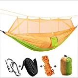 AFFC Camping Hammock with Mosquito Net Outdoor Portable, Lightweight, Anti-Mosquito Nylon for 1 Person Camping/Camping/Hiking/Caving/Outdoor,1