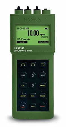 Hanna Instruments HI 98185-01 Waterproof Portable pH/ORP/ISE/Temperature Meter, 115V